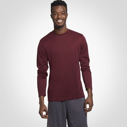 Men's Dri-Power® Performance Long Sleeve T-Shirt MAROON