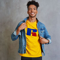 Men's Heritage Flock Graphic T-Shirt GOLD FUSION