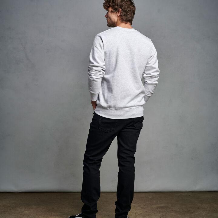 Men's Cotton Rich 2.0 Premium Fleece Sweatshirt Ash