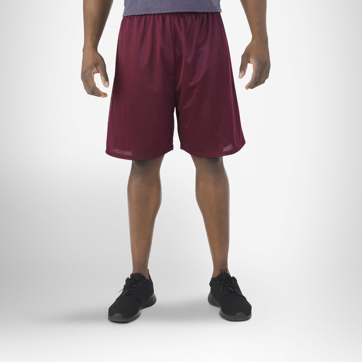Men's Dri-Power® Mesh Shorts (No Pockets) Maroon