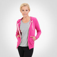 Women's Essential Lightweight Full Zip Hoodie VERY BERRY