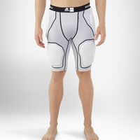 Men's 5-Piece Integrated Football Girdle GRIDIRON SILVER