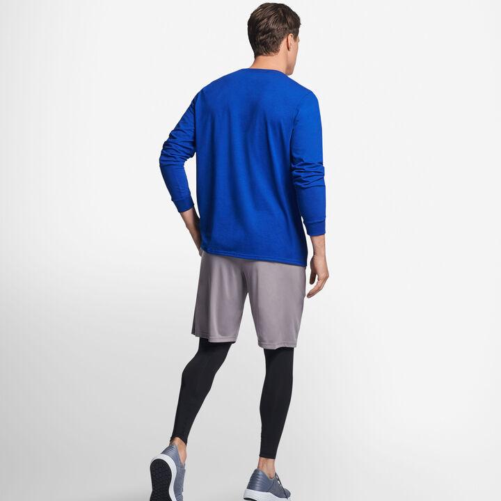 Men's Cotton Performance Long Sleeve T-Shirt ROYAL