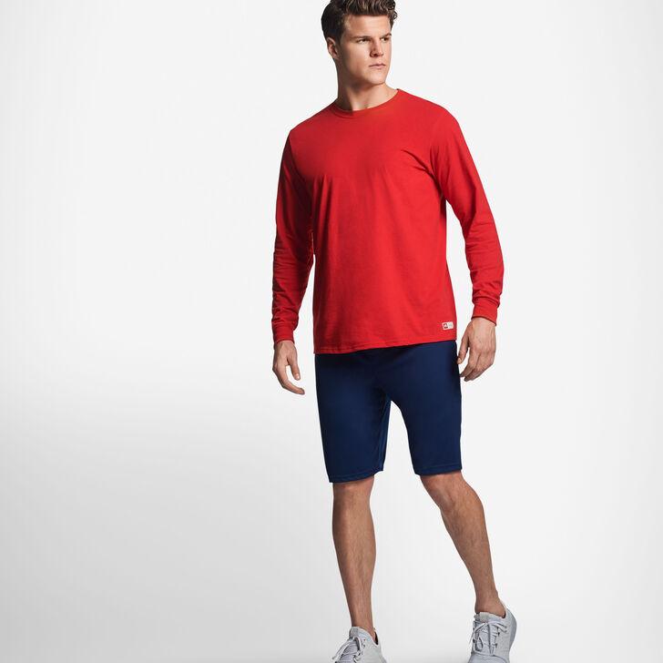 Men's Cotton Performance Long Sleeve T-Shirt TRUE RED