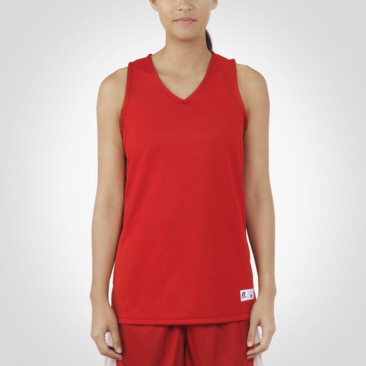 Women's Dri-Power® Undivided Reversible Basketball Jersey TRUE RED/WHITE