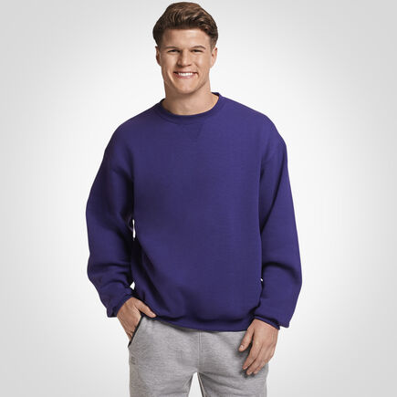 Men's Dri-Power® Fleece Crew Sweatshirt PURPLE