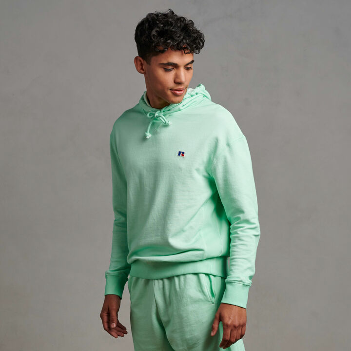 Men's Garment Dyed French Terry Hoodie Mint