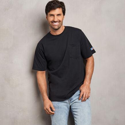 Men's Cotton Classic Pocket T-Shirt BLACK