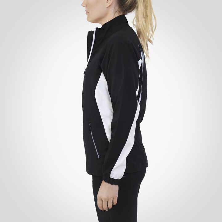 Women's Woven Warm Up Jacket BLACK/WHITE