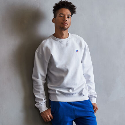 Men's Heritage Fleece Crew Sweatshirt WHITE