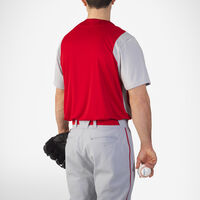 Men's Dri-Power® Colorblock Baseball Jersey TRUE RED/BASEBALL GREY