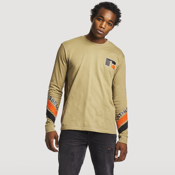 Men's Heritage Graphic Long Sleeve T-Shirt DRY GRASS