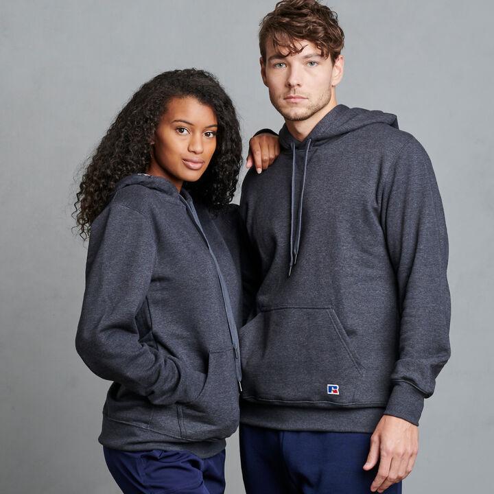 Men's Cotton Rich 2.0 Premium Fleece Hoodie Charcoal Heather