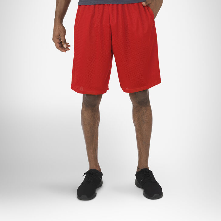 Men's Dri-Power® Mesh Shorts with Pockets TRUE RED