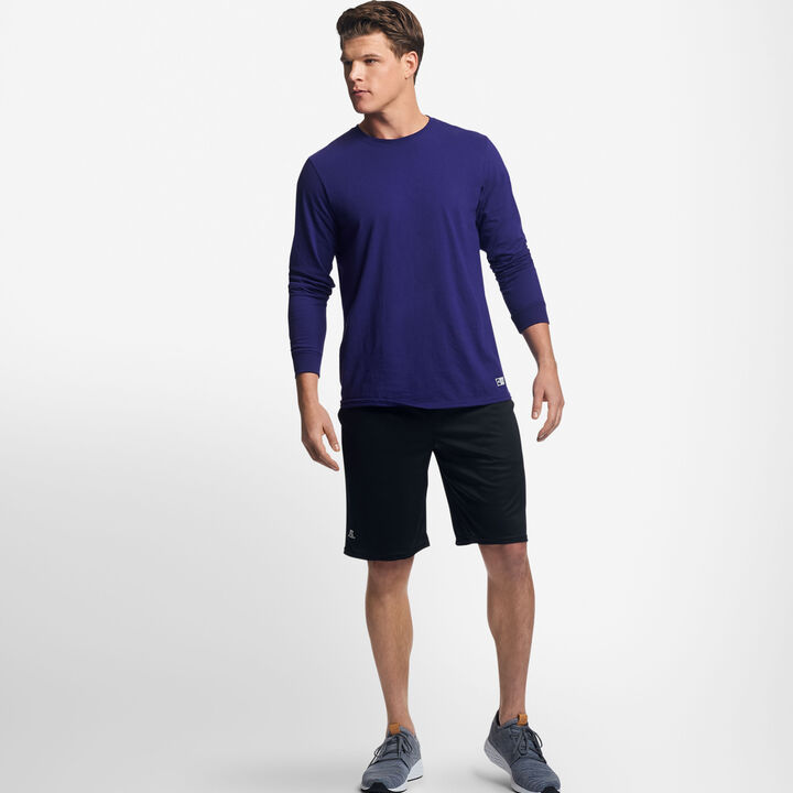 Men's Cotton Performance Long Sleeve T-Shirt PURPLE
