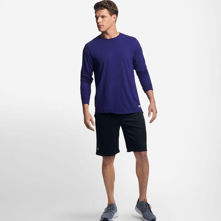 Men's Cotton Performance Long Sleeve T-Shirt PURPLE