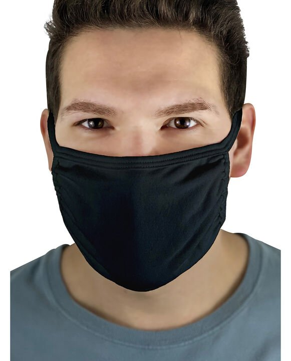 Reusable Cotton Face Mask Non-Medical, 5 Pack Black