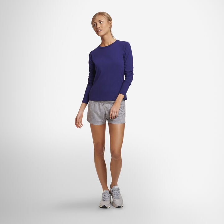 Women's Cotton Performance Active Shorts (No Pockets) OXFORD