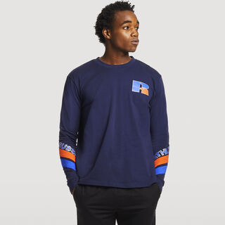 Men's Heritage Graphic Long Sleeve T-Shirt NAVY