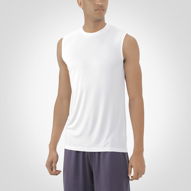 Men's Dri-Power® Core Performance Sleeveless Tee WHITE