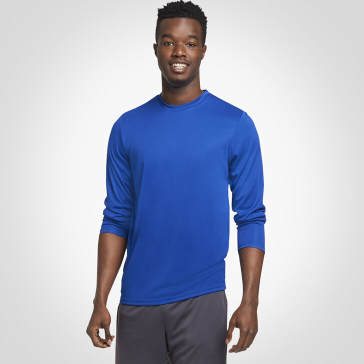 Men's Dri-Power® Core Performance Long Sleeve Tee ROYAL