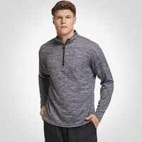 Men's Dri-Power® Lightweight Performance 1/4 Zip BLACK