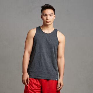 Men's Cotton Performance Tank Top Black Heather