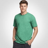 Men's Cotton Performance Tee RETRO HEATHER GREEN