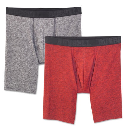 Men's Assorted Freshforce Odor Protection Peformance Long Leg Boxer Briefs (2 Pack)