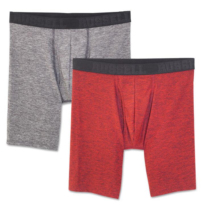 Men's Assorted Freshforce Odor Protection Peformance Long Leg Boxer Briefs (2 Pack) ASSORTED