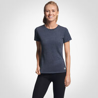 Women's Cotton Performance T-Shirt BLACK HEATHER