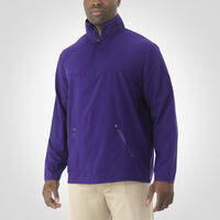 Men's Woven 1/4 Zip Pullover PURPLE