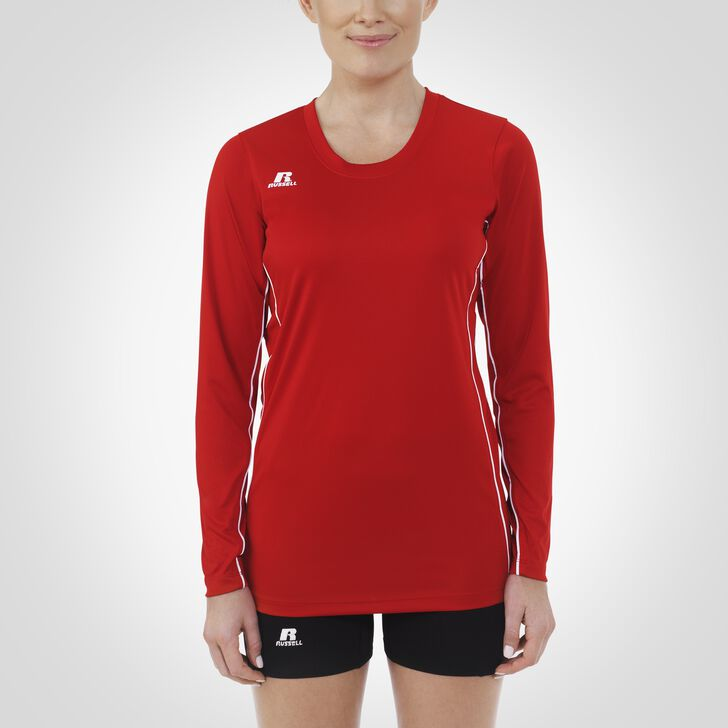 Women's Performance Long Sleeve Top TRUE RED/WHITE