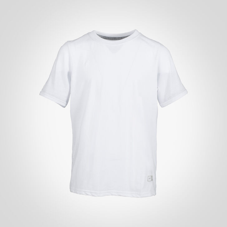 Youth Cotton Performance Tee WHITE