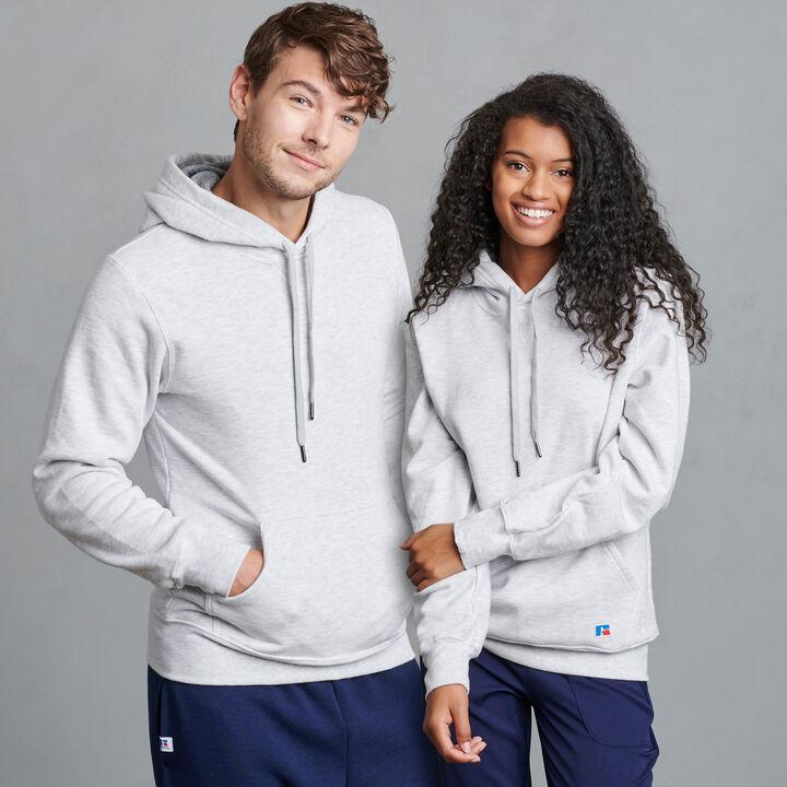 Men's Cotton Rich 2.0 Premium Fleece Hoodie Ash