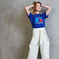 Women's Heritage Mid-Crop Graphic T-Shirt MAZARINE BLUE