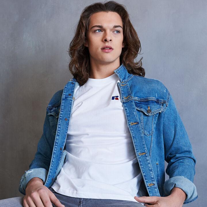 Men's Heritage Baseliner T-Shirt WHITE