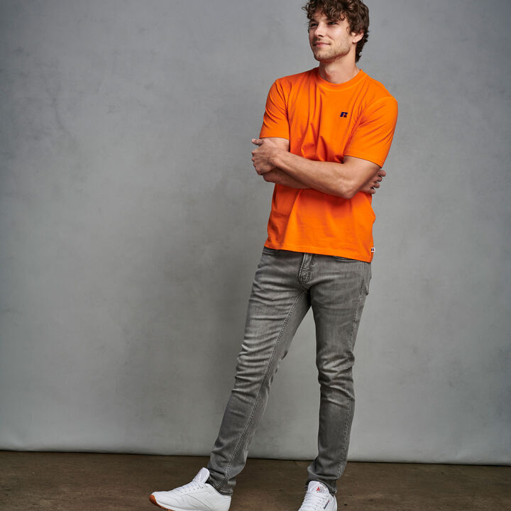 Men's Heritage Baseliner T-Shirt ORANGE