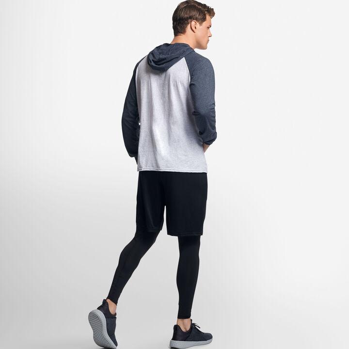 Men's Cotton Performance Lightweight Hoodie ASH/BLACK HEATHER