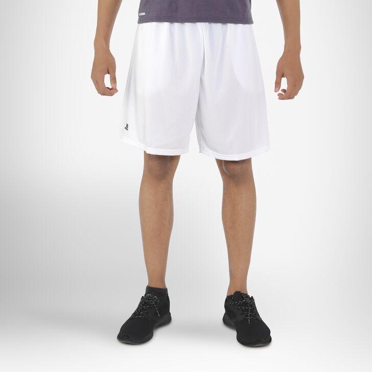 Men's Dri-Power® Mesh Shorts with Pockets WHITE