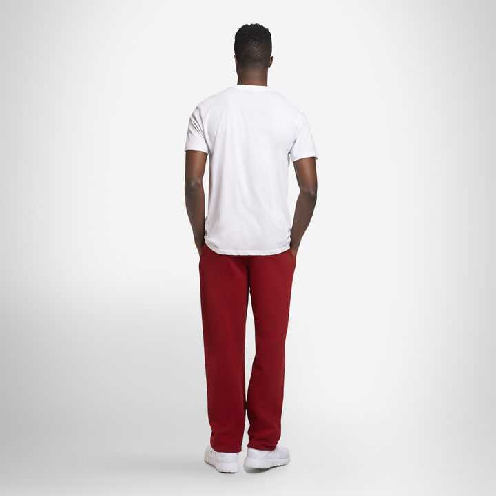 Men's Dri-Power® Open Bottom Fleece Sweatpants CARDINAL