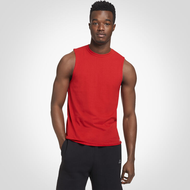 Men's Essential Muscle Tee TRUE RED