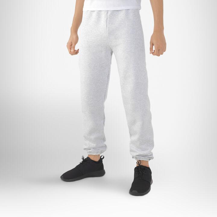 Men's Dri-Power® Closed Bottom Fleece Sweatpants (No Pockets) ASH