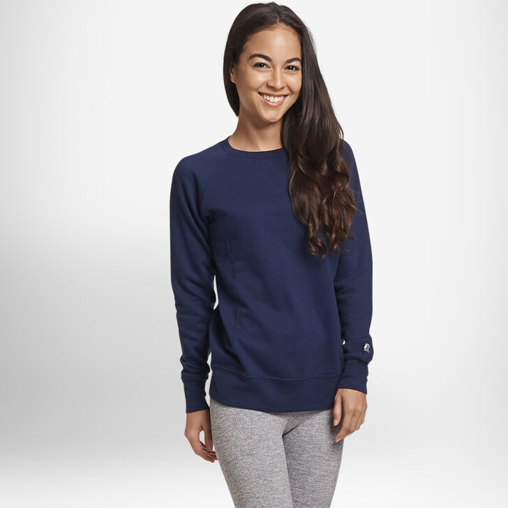 Women's Fleece Crew Sweatshirt Navy