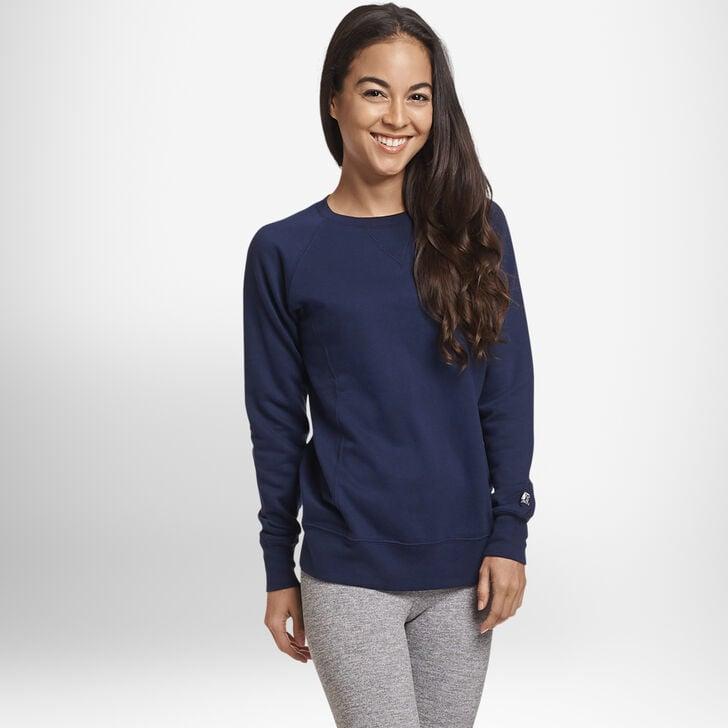 Women's Fleece Crew Sweatshirt NAVY