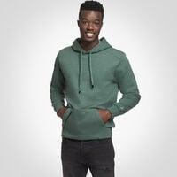 Men's Cotton Rich Fleece Hoodie GREEN HEATHER
