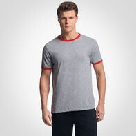 Men's Cotton Performance Ringer T-Shirt OXFORD/TRUE RED