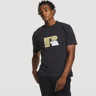 Men's Heritage Heavyweight Flock T-Shirt BLACK