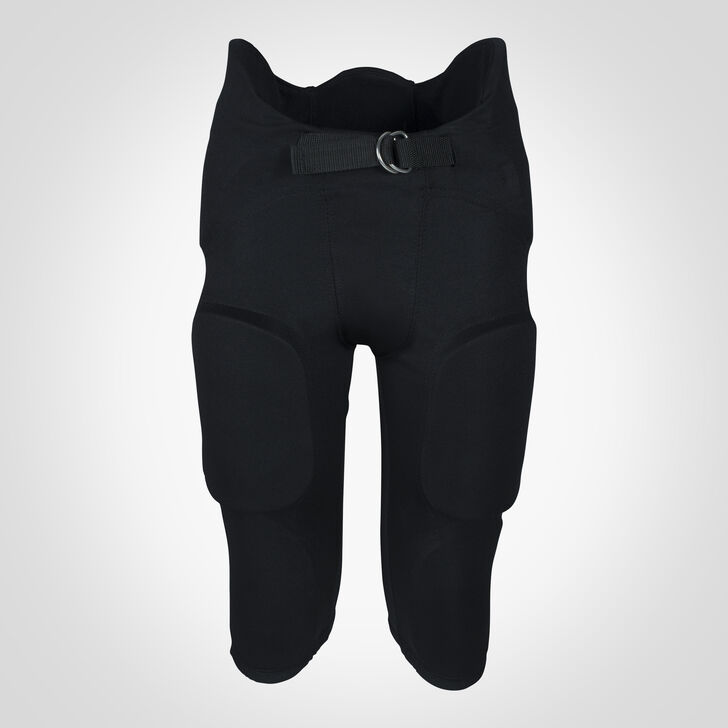 Youth Integrated 7-Piece-Pad Football Pants BLACK