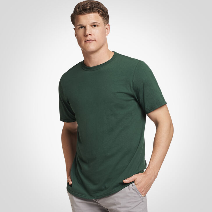 Men's Cotton Performance Tee DARK GREEN
